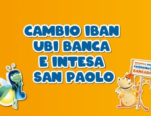 Comunicazione cambio Iban Ubi Banca e Intesa San Paolo